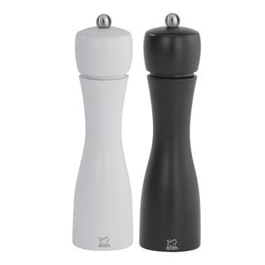 Peugeot Tahiti Tuz Ve Karabiber Değirmen Seti 20 Cm Siyah Beyaz Siyah